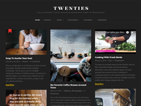 Twenties Dark Skin | Masonry Blog WordPress Theme