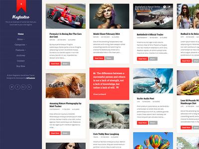 Magtastico Responsive Masonry WordPress Theme