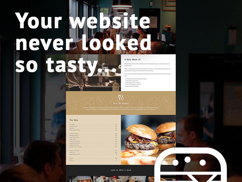 Total Cafe Splash restaurant cafe web design website total theme wordpress theme wordpress
