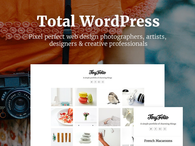 Tinyfolio by Total photography blog portfolio wordpress theme wordpress