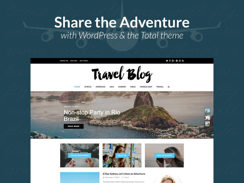 Total Travel Blog Website Design travel blog web design wordpress theme travel wordpress