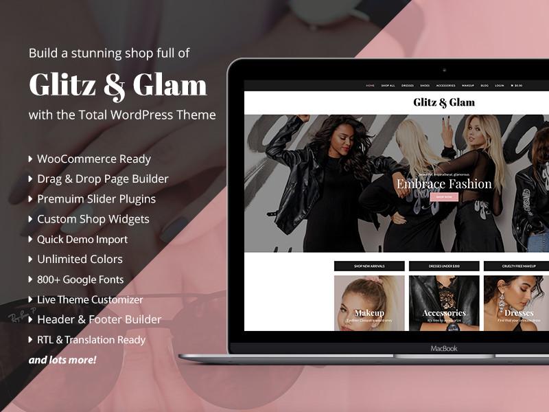 Glitz & Glam WooCommerce Shop Design e-commerce wordpress theme web design design store shop ecommerce website wordpress