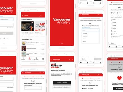 Vancouver Artgallery App – Redesign Concept artgallery vancouver figma redesign concept ux design mobile ui android mobile app