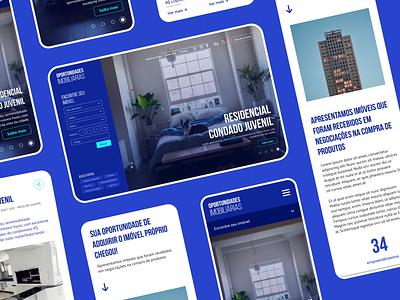 Oportunidades Imobiliárias Website interface website design web design website uidesign ui ui design concept design agency website webdesign