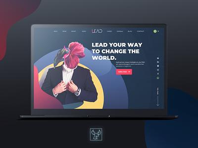 Lead Edu Website concept ui animation animation design animation web ui design ux concept design visual design coach webdesign branding design ui  ux uidesign