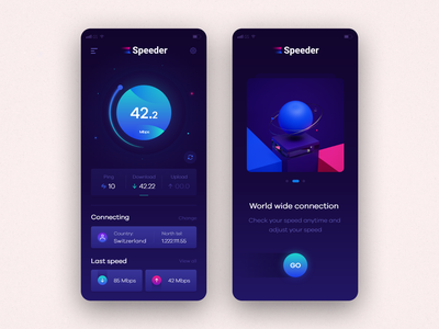 Speed Tester | Speeder c4d speed uidesign design minimal flat web app ux ui