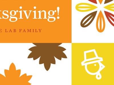 Lab thanksgiving card