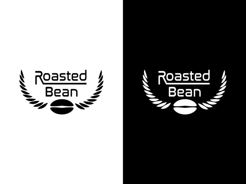 Roasted Bean logodesign vector typography branding logo design illustrator