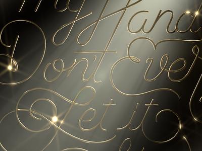 Snippet light 3dmodelling letters 3dillustration customtype gold cgi render 3dlettering lettering illustration 3d art 3d