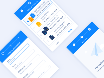UI Kit | Steps check box input flow application form type file illustration icon step