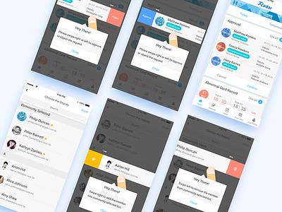 Radar Mobile | Swipe to execute behavior radar swipe behavior list field object deputy approve tutorial approval mobile app