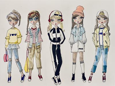 GeGe Style creative design clothing design fashion brand fashion design hand drawn illustration