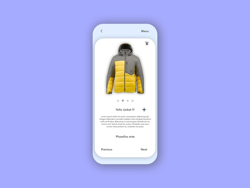 UI Jacket app ui ux design dailyui