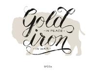 Gold iron