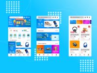 Tokopedia x Shopee Influenced E-Commerce UI mobile ui uiux uiux design smartphone mockup design app design influenced shopee tokopedia