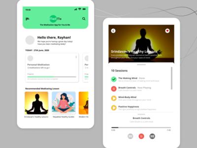 Meditation App UI Design influenced ux ui design challenge uiux design uiux design smartphone mockup app design