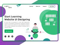An e-Learning Website Landing Page landing design landing page website concept website design ui design app design