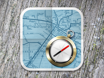 Map Compass icon compass map ios apple hd retina mobile phone photoshop 4
