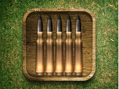 Munitions ammo bullets munitions ios app phone mobile box wood brass