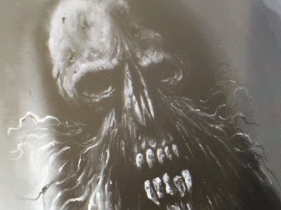 WIP - Painting beard skull