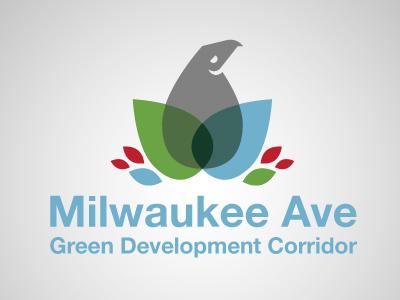 Milwaukee Ave Green Dev Corridor Logo logo green eagle