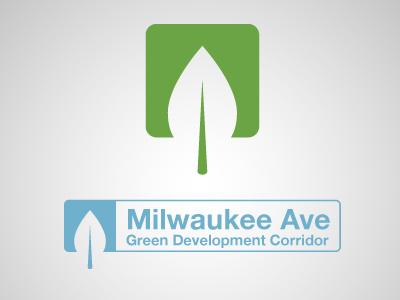 Milwaukee Ave Green Dev Corridor Logo v2 logo green eagle