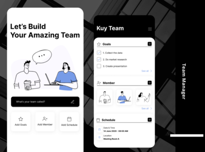 Team Manager - Mobile Apps mobile ui mobile team manage project teamwork indonesia designer ui