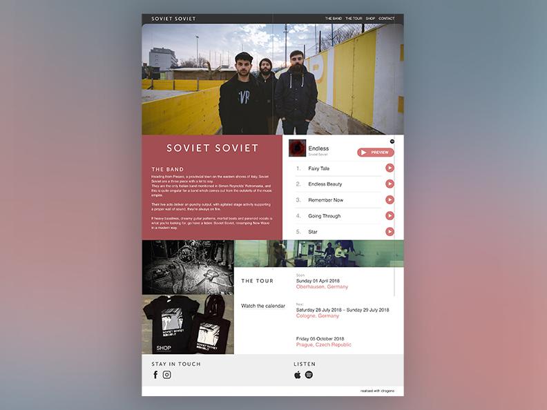 Soviet soviet   website concept