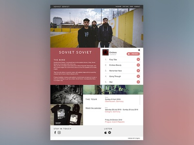 Band Website - Concept adobe xd ux web ui concept prototype website music