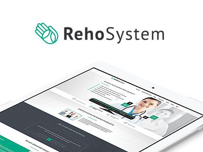 Reho System landing page webdesign landing flat kmita netkata medical reho system