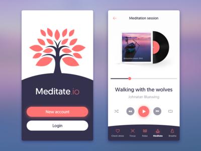 Meditation App apple iphone design health peace calm meditation application app mobile ios