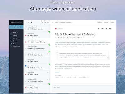 FIX UI Project - Afterlogic webmail client user expirience ux webdesign design flat application webmail mail interface fixui ui