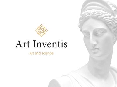 Art Inventis - logo proposition arts roman greece greek ancient renovation science art branding logo
