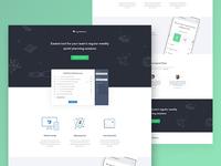 SprintPoker.io - landing page design