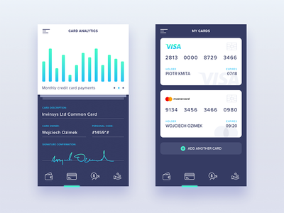 Company Finanance Manager - Mobile Application manager money chart blue concept ios graph application app mobile