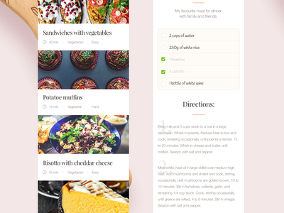 Food.lovers mobile recipes application recipe app sherif flat inspiration food iphone ios mobile