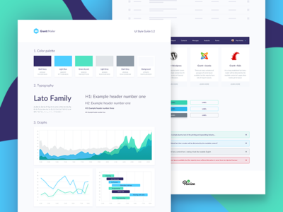 Grantt Mailer Style Guide mailing mail newsletter guide chart analytics definition colors style guide
