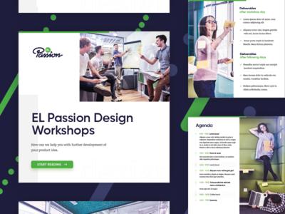 EL Passion Design Workshops presentation photo pdf print user expirience ux workshop presentation design