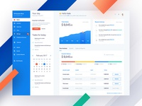 Fiskl web dashboard variation finance money chart application app financial dashboard