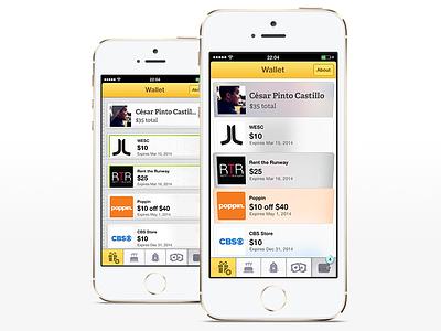 Wallet Hack ios7 ios wrapp app apple flat iphone ui ux interface