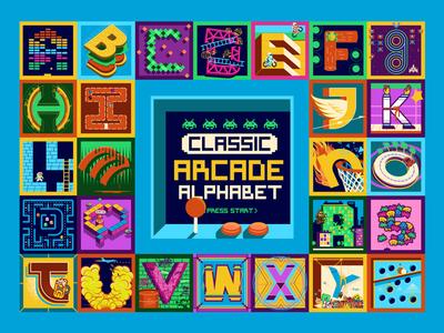 Classic Arcade Alphabet