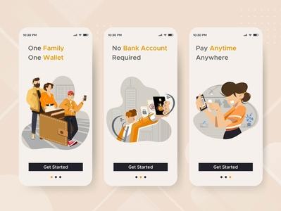 Teenagers First Payments App mobile app mobile ui mobile app design design ui illustrator illustration