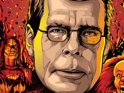 Stephen King writer macabre carrie vector stephen king