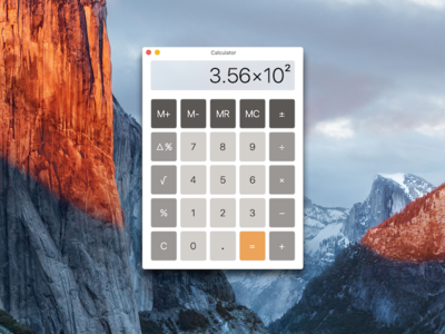 Redesigned Calculator Mac OS X