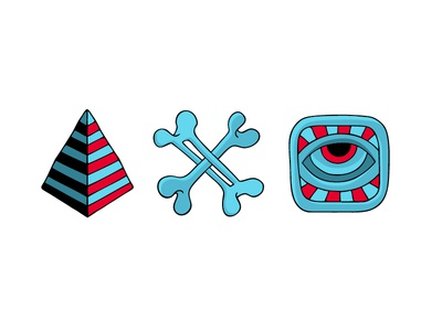Illustration art illustration color eye bones pyramid