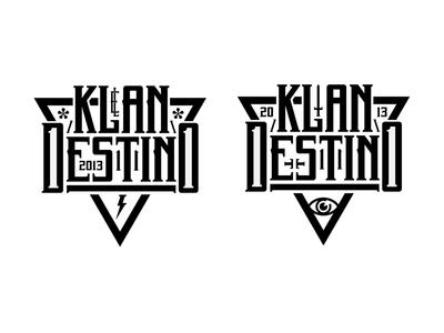 El KlanDestino logo black and white design