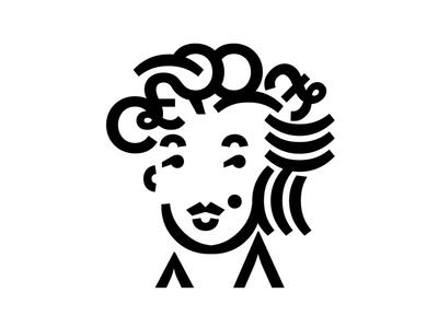 Marilyn logo font black and white design marilyn art
