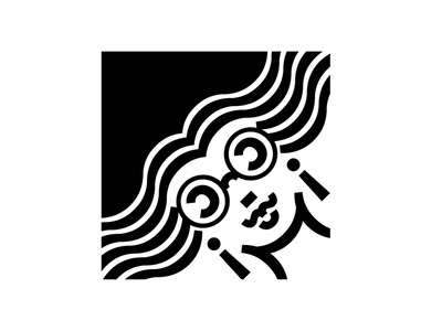 cc black and white illustration font