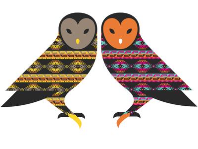 Owl illustration color owl
