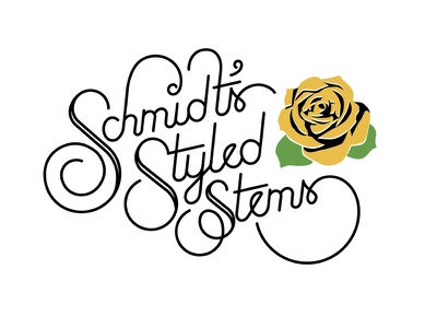 Schmidt's Styled Stems floral hand-lettered script